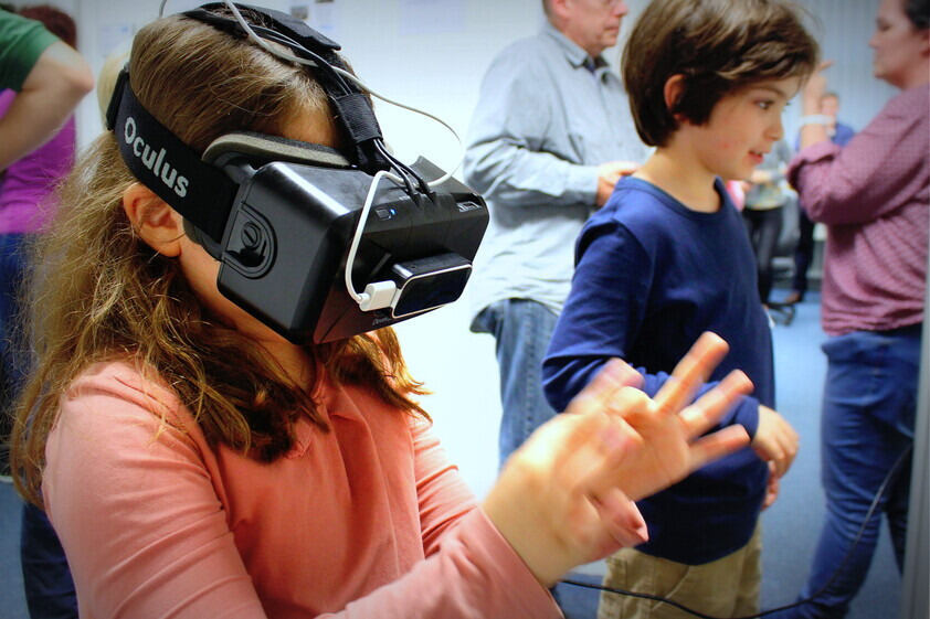 Kinder im Virtual Reality-Labor